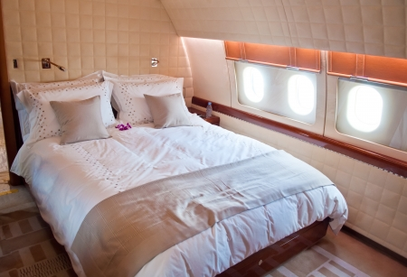 corporate jet: Interior of Business Jet  Bedroom