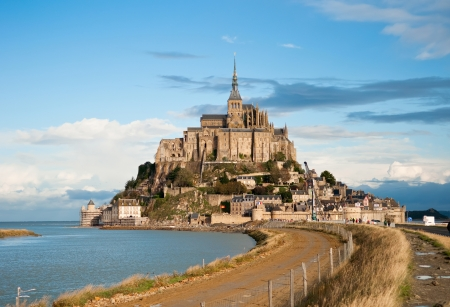 Mont Saint-Michel, Normandy, France  One of the most visited tourist sites in France  photo