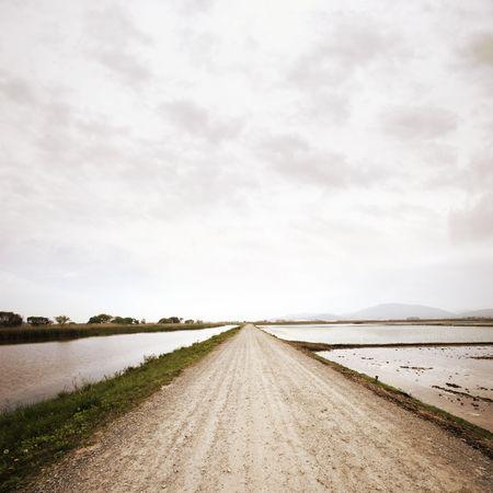 Rural road in Japan Stock Photo - 4990513