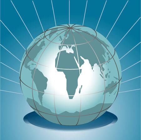 meridiano: Ilustración vectorial del mundo mundo
