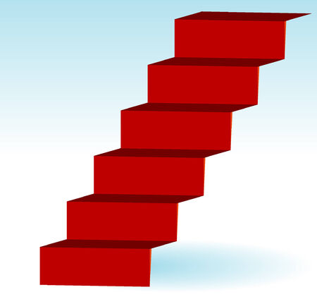 Red Stairs Stock Vector - 5009622