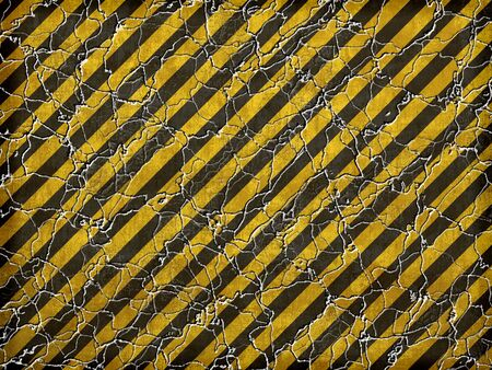 タイルをシームレスに任意の方向にパターンとしてハザード ストライプ テクスチャです。