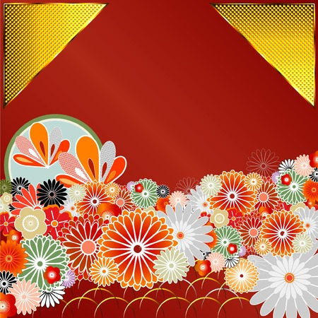 Pattern of Japanese culture Vector