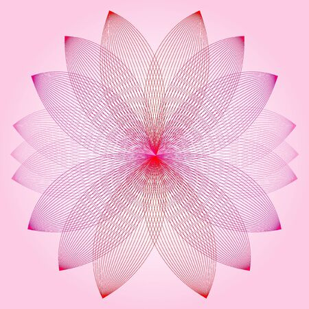 abstract flowers background: Lotus flower Illustration