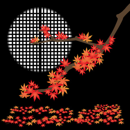 japanese maple: Illustration of leaf-Vector material