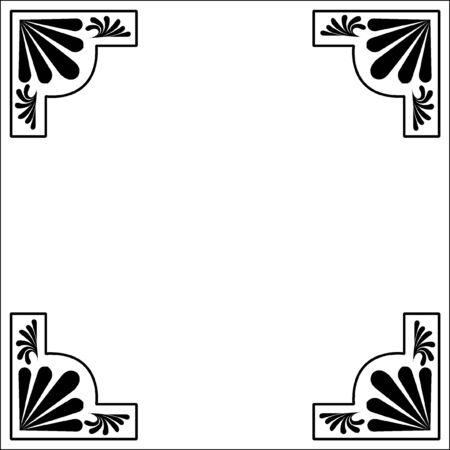 hoekversiering: Decoratie van hoek