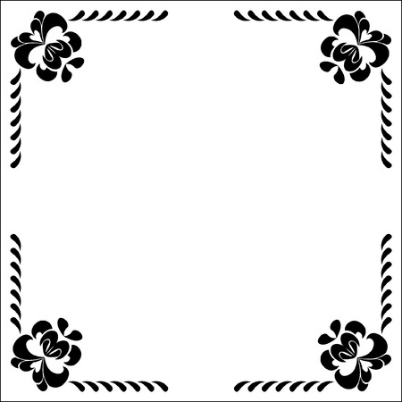 Decoration of corner Vector