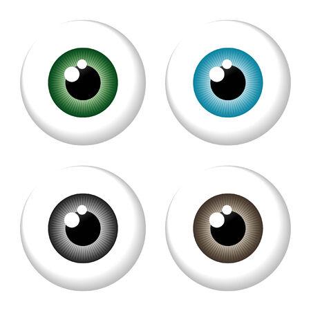 eyeball isolated Vector