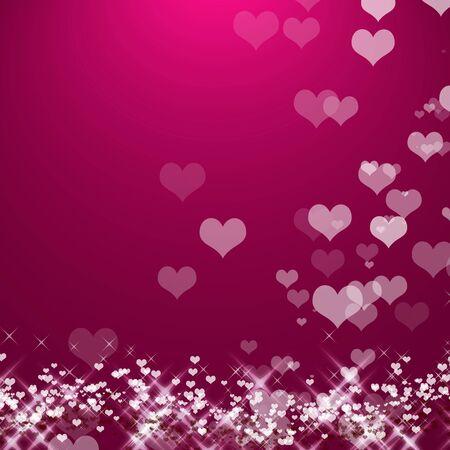 beautiful colorful heart shape background Reklamní fotografie