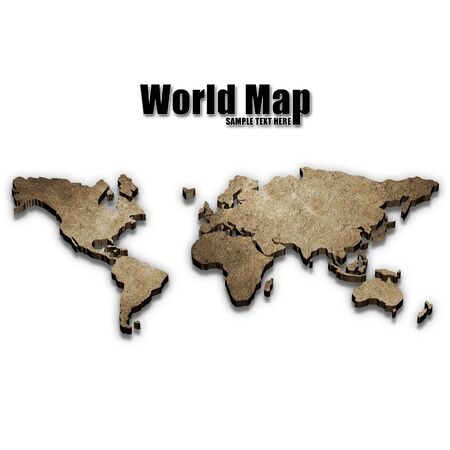 to exist: Three-dimensional world map - Please look at my portfolio other kinds exist Stock Photo