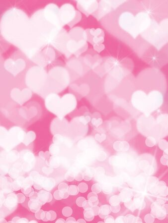 Beautiful colorful heart shape background photo