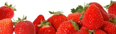 Strawberry image of white background