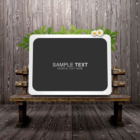 Synthetic background image of bench photo