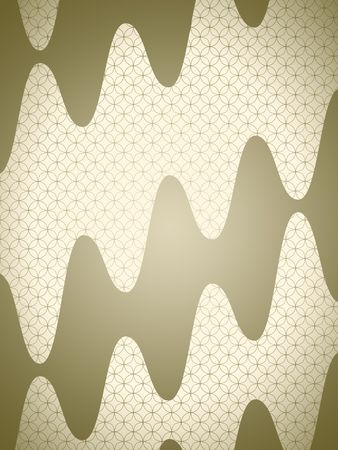 Japanese style golden background pattern