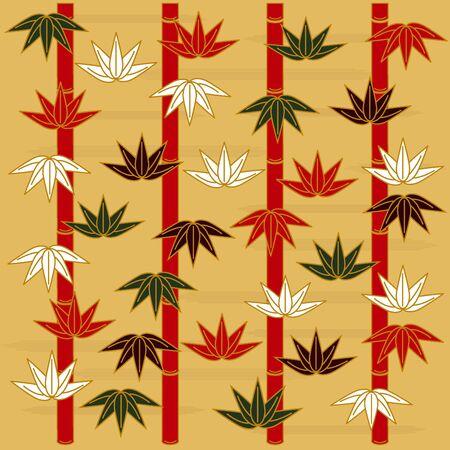 Background illustration of Japanese pattern Vector
