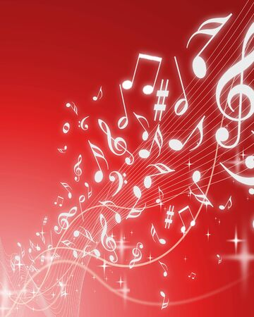 Abstract music background image - Computational graphic