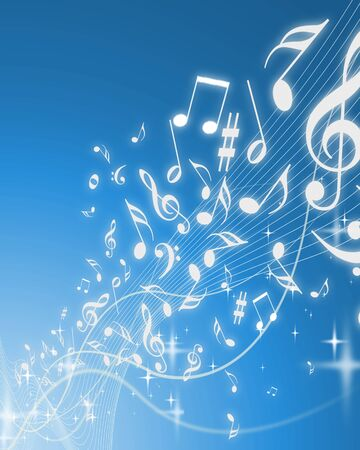 Abstract music background image - Computational graphic photo