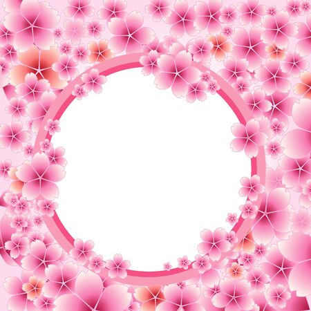 Illustration material of cherry blossoms Vector
