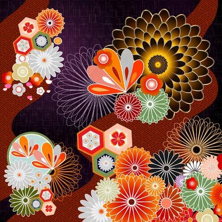 Background illustration of Japanese pattern Illustration