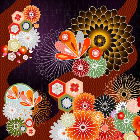 Background illustration of Japanese pattern Illustration