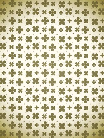 threeleaf: Back ground of golden clover pattern Stock Photo