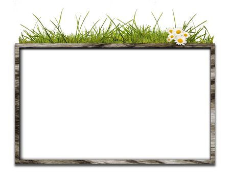 Bulletin board in wooden crate of CG integration Stock Photo - 7826538