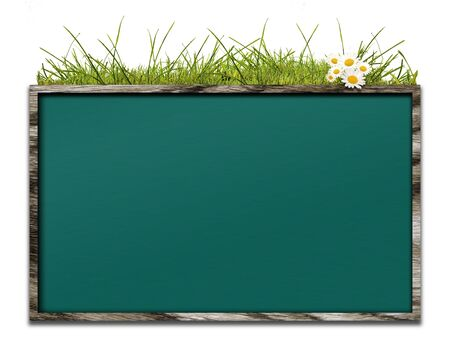 Bulletin board in wooden crate of CG integration photo