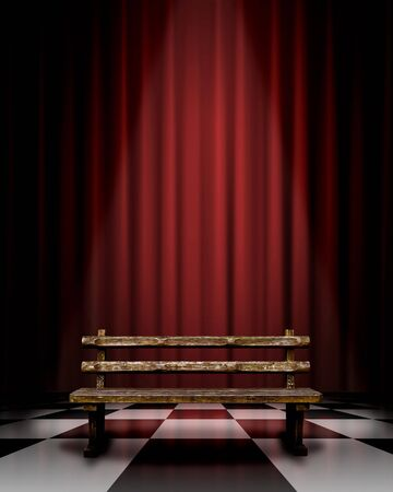 CG synthesis background image of stage Stock Photo - 8162519