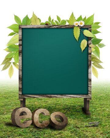 CG synthesis bulletin board of eco-image photo