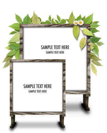 CG background of leaf and frame Stock Photo - 8279541