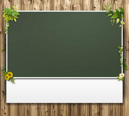 bulletinboard: 3D background of blackboard