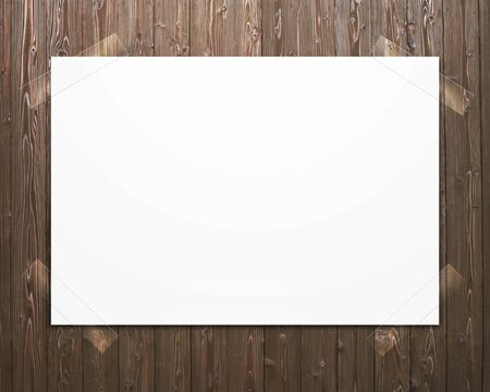 bulletinboard: Photograph pasted to bulletin board Stock Photo