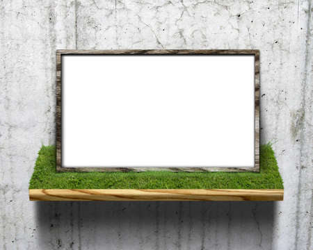 CG background of leaf and frame Stock Photo - 8617360