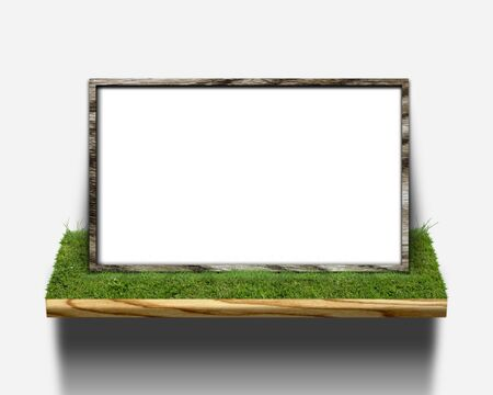 CG background of leaf and frame Stock Photo - 8617392
