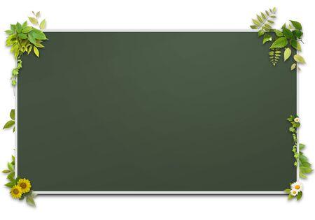 3D background of blackboard