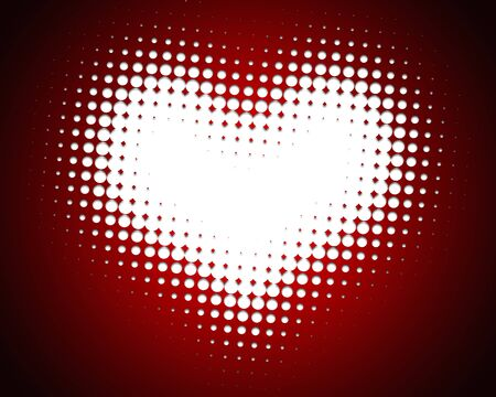 colorfulness: Heart handle background image of dot Stock Photo