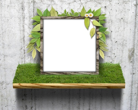 CG background of leaf and frame Stock Photo - 8638683