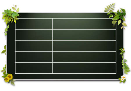 3D background of blackboard photo