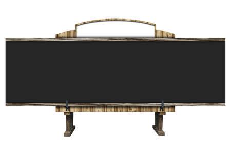 3D background of blackboard photo