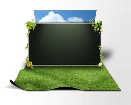 3D background of blackboard Stock Photo - 8710752