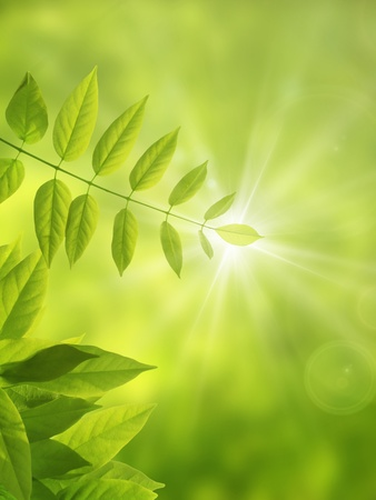 synthesis: Eco-image made from CG synthesis Stock Photo