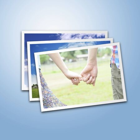 promise: Image of photograph piled up