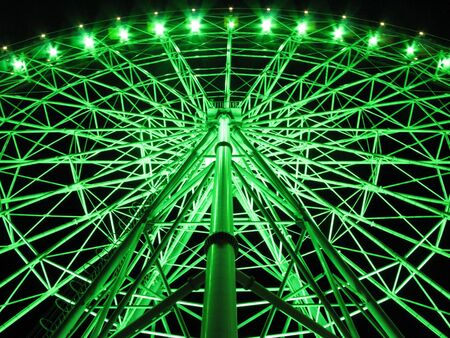 ferriswheel: Ferris wheel of night view Stock Photo