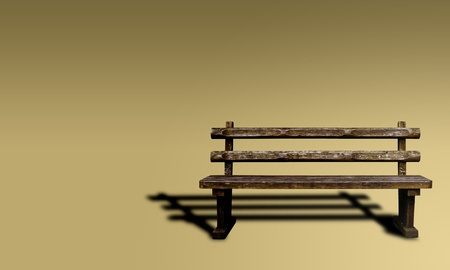 Wooden bench of white background Stock Photo - 9295670