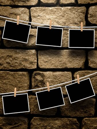 recollections: Photo frames Stock Photo