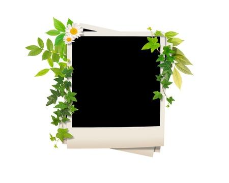 retro: Photograph frame image Stock Photo