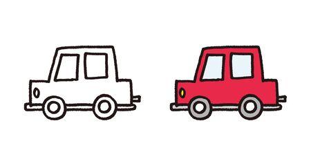 Hand drawn car vector illustration Ilustracja