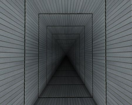 It is an image of a dark and narrow passage