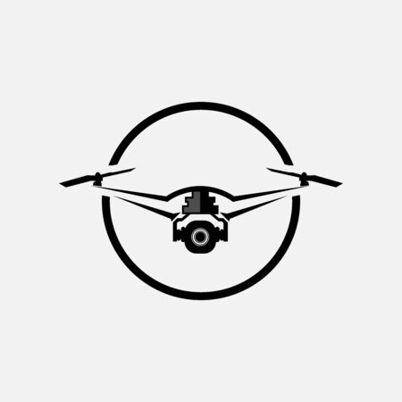 Drone flat vector icon illustration
