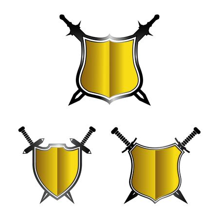 shield icon isolated on white background from tab bar and settings collection. shield icon trendy and modern shield symbol Imagens - 134269887
